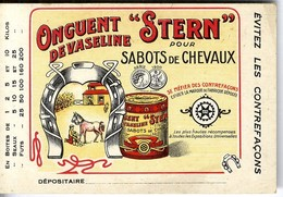 STERN POUR SABOT DE CHAVAUX   ONGUENT DE VASELINE    -  TRES BELLE ILLUSTRATION  -  CARTE PUBLICITAIRE - Advertising
