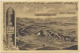 90) BELFORT : Belfort U. Umgebung (carte Allemande, 1ère Guerre - Tampon Vereinslazarett - 1914, Voir Scan Verso) - Belfort - Ville