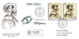 E 366 -TAAF SUR LETTRE RECOMMANDEE   DUMONT D'URVILLE  T. ADELIE 1982 - Terre Australi E Antartiche Francesi (TAAF)