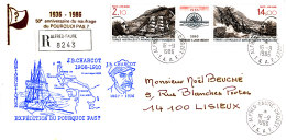 E 371 -TAAF SUR LETTRE RECOMMANDEE   ALFRED FAURE CROZET 1986 - Terre Australi E Antartiche Francesi (TAAF)