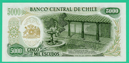 5000 Escudos - Chili - N° 0177965  B21 - 1973 -  Neuf - - Chile