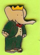Pin's BD Babar Costume Vert (Babar Éléphant) - 2D17 - Comics