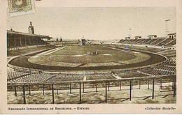 Barcelona Barcellona Olimpico Montjuic Stadium Cartolina Stadio Postcard Stadion AK Carte Postale Stade Estadio - Calcio