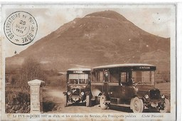 LE PUY DE DOME N 17  AUTOBUS  TRANSPORTS PUBLICS GROS PLAN   1926 CACHET Defauts Taches    DEPT 63 - Sonstige Gemeinden