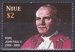 Niue 2005 Geschichte History Persönlichkeiten Religionen Christentum Papst Johannes Paul II. Pope, Mi. 1045 ** - Niue