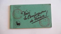 Carnet De 10 Cartes Des Compagnons De France Avec Cachet De MARIN LA MESLEE …… 1B - 125 - Guerra 1939-45