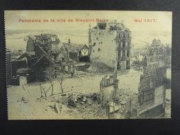 Panorama De La Ville De Nieuport-Bains Mai 1917 - Guerra 1914-18