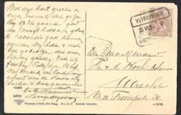 TREINblokstempel VLISSINGEN - SHERTOGENBOSCH V Op Ansicht BERGEN OP ZOOM Markt  1924 - Poststempels/ Marcofilie
