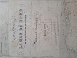"Carte Marine Charts Map. ""Iles Canaries"". 1838 Correction 1852. 97cm/68cm Robiquet - Nautical Charts"