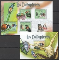D1480 2011 CENTRAFRICAINE FAUNA INSECTS LES COLEOPTERES 1KB+1BL MNH - Insekten