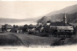 73. Aiguebelette. Le Village Et Le Lac - Autres Communes