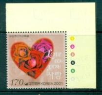 Korea 2001 Love To You MUH Lot82513 - Korea (...-1945)