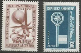 Argentina - 1957 Tourist Congress MNH *   Sc C68-9 - Argentina