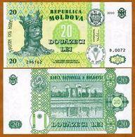 MD (b) - 2010 20 Lei (TTB/VF/SS) - Moldavie