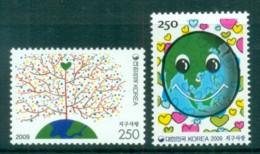 Korea 2009 Love For The Earth MUH Lot82511 - Korea (...-1945)