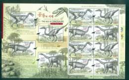 Korea 2010 The Ages Of Dinosaurs I MS MUH Lot83045 - Korea (...-1945)