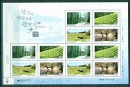 Korea 2011 Fascinating Tourist Destinations In Kores I Sheetlet MUH Lot83056 - Korea (...-1945)
