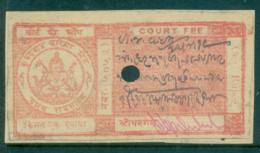 Kurundwad Junior State 1928-38 Court Fee Ty.5 1R Red Lot36565 - India