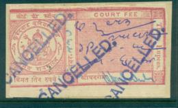 Kurundwad Junior State 1928-38 Court Fee Ty.5 3R Red Lot36566 - India