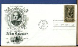 USA - FDC 1964 - WILLIAM  SHAKESPEARE - FDC