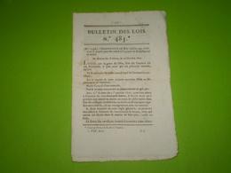 Lois 1821:Conditions Admission Baccalauréat Es Lettres.Archevêché Reims,Avignon,Sens;évêché Chartres,Nîmes,Luçon,Périgeu - Decrees & Laws