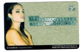 Movie Star,Movie Card,Angelina Jolie(US) - China