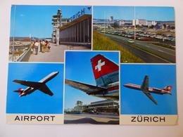 AIRPORT / FLUGHAFEN / AEROPORT       ZURICH   KLOTEN CARAVELLE SWISSAIR - Aerodromes