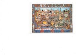 Cpm - Espagne -- Sevilla  - Illustration Arènes Torero Taureau Sirène - Sevilla