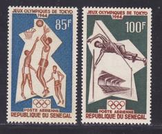 SENEGAL AERIENS N°   43 & 44 ** MNH Neufs Sans Charnière, TB (D7606) Jeux Olympiques De Tokyo - 1964 - Sénégal (1960-...)