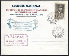 Secours National  - Propagande Philatélique De L'Afrique Du Nord  - Constantine  1942 - 2° SAPPAN - Algerien (1924-1962)