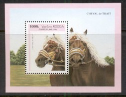 Laos 1996 Horses MS MUH - Laos