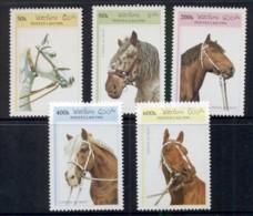 Laos 1996 Horses MUH - Laos