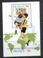 Laos 1998 World Cup Soccer France MS CTO - Laos