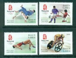 Laos 2008 Beijing Olympics MUH Lot26935 - Laos