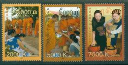 Laos 2009 Alms For Monks MUH Lot24460 - Laos