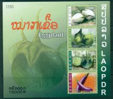 Laos 2009 Eggplants MS MUH Lot24469 - Laos