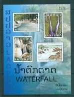 Laos 2009 Waterfalls MS MUH Lot46243 - Laos