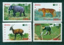Laos 2011 Wildlife Conservation, Elephant, Tiger, Monkey MUH Lot82406 - Laos
