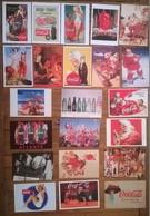 Lot De 22 Cartes Postales Publicitaires COCA COLA - Publicité