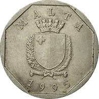 Monnaie, Malte, 50 Cents, 1995, British Royal Mint, TB+, Copper-nickel, KM:98 - Malta