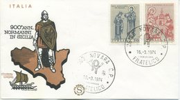 ITALIA - FDC FILAGRANO 1974 - ARTE NORMANNA - 1946-.. République