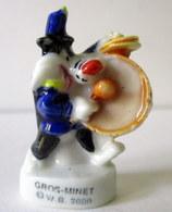 Fève Brillante  - Gros Minet Joue De La Grosse Caisse - WB 2000 - Dessins Animés