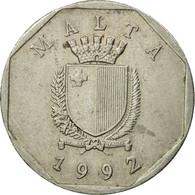 Monnaie, Malte, 50 Cents, 1992, British Royal Mint, TB+, Copper-nickel, KM:98 - Malte