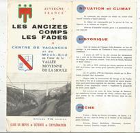 Dépliant Touristique , LES ANCIZES , COMPS , LES FADES , Auvergne, 8 Pages, 2 Scans  , Frais Fr 1.65e - Dépliants Touristiques