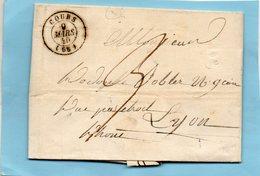 "Cachet 15 ""COURS '68),L.A.C. De THEL (68) Le 9/3/40. - 1801-1848: Precursors XIX"
