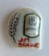 FEVE PUBLICITAIRE Perso - PERSONNALISEE BOULANGERIE JM BRAINE - 1993 - Logo Avec Une Toque - Olds