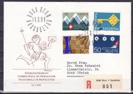 Switzerland/1968 - Publicity Issue/Werbemarken/Timbres De Propagande - Set/14.III - FDC - FDC