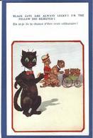 CPA Chat Cat Position Humaine Habillé Non Circulé - Dressed Animals