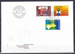 Switzerland/1977 - Publicity Issue/Werbemarken/Timbres De Propagande - Set/25.VIII - FDC - FDC