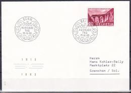 Switzerland/1963 - Lotschberg Railway/Lotschbergbahn/Ch. De Fer Du Lotschberg - 20 C - FDC - FDC